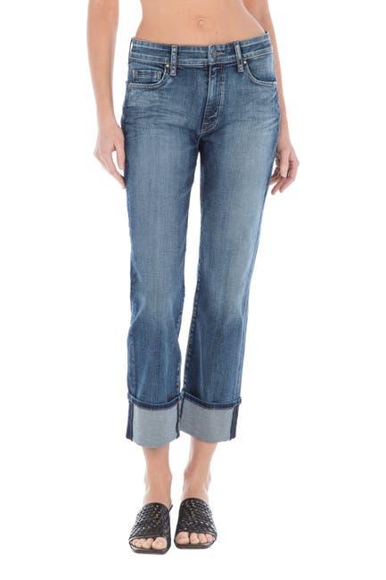 Image of FIDELITY DENIM Taylor High Rise Straight Leg Cuffed Jeans