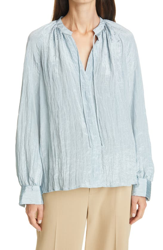 Vince POET POPOVER LONG SLEEVE BLOUSE