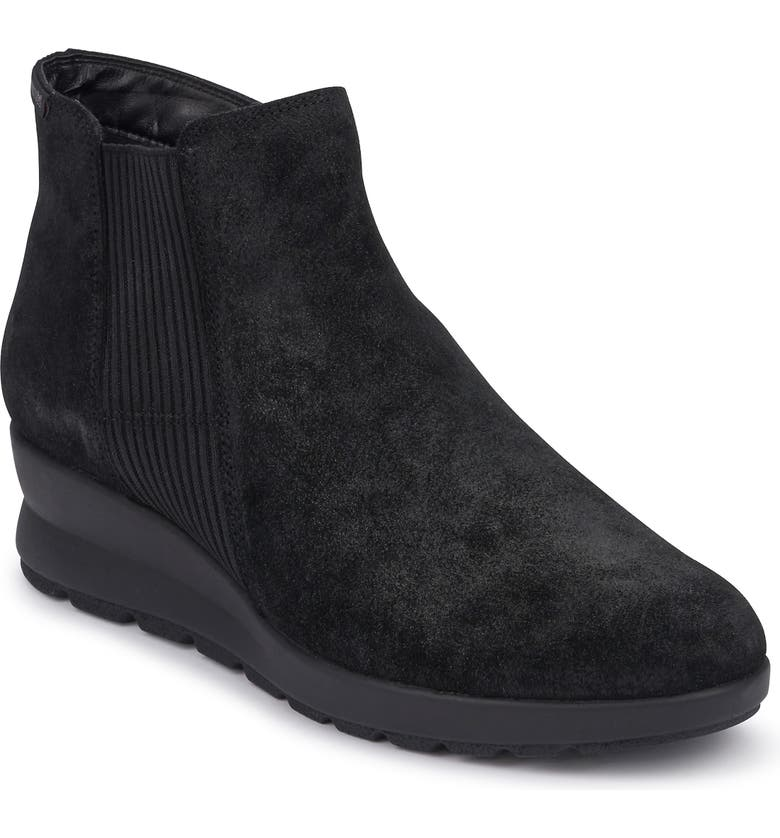 MEPHISTO Pienza Bootie, Main, color, BLACK SUEDE