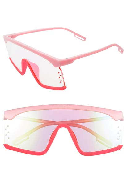 Kenzo Women's Mirrored Shield Sunglasses, 145mm In Shiny Pink/violet