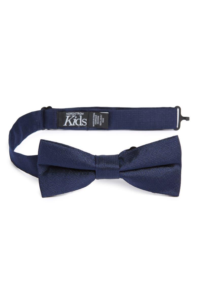 NORDSTROM Levi Solid Silk Bow Tie, Main, color, 410