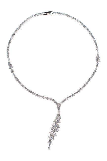 Image of CZ By Kenneth Jay Lane Tiered Baguette CZ Y-Necklace