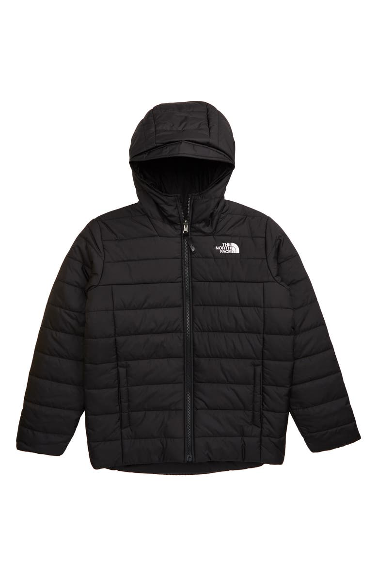 THE NORTH FACE Perrito Reversible Water Resistant Jacket, Main, color, TNF BLACK/ TNF BLACK