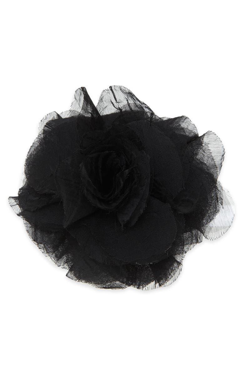 TASHA Chiffon Flower Clip, Main, color, 001