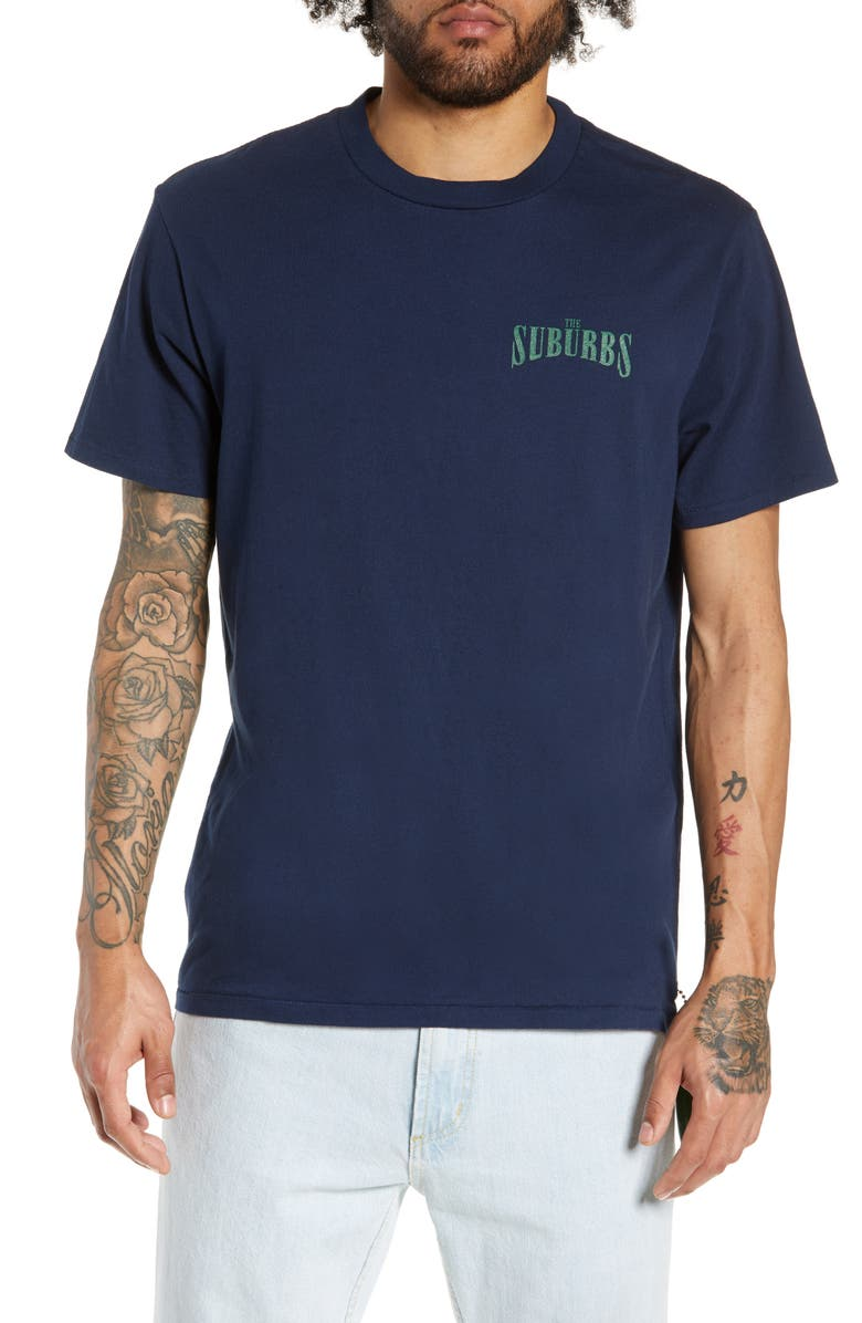PASADENA LEISURE CLUB Suburbs T-Shirt, Main, color, NAVY