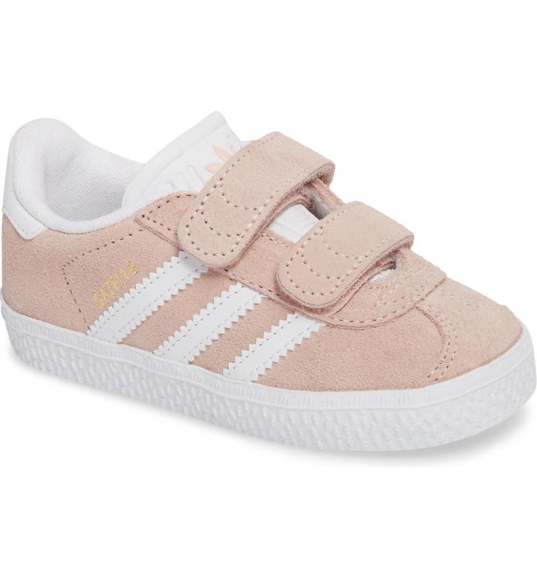 ADIDAS Gazelle Sneaker, Main, color, ICEY PINK / WHITE / WHITE
