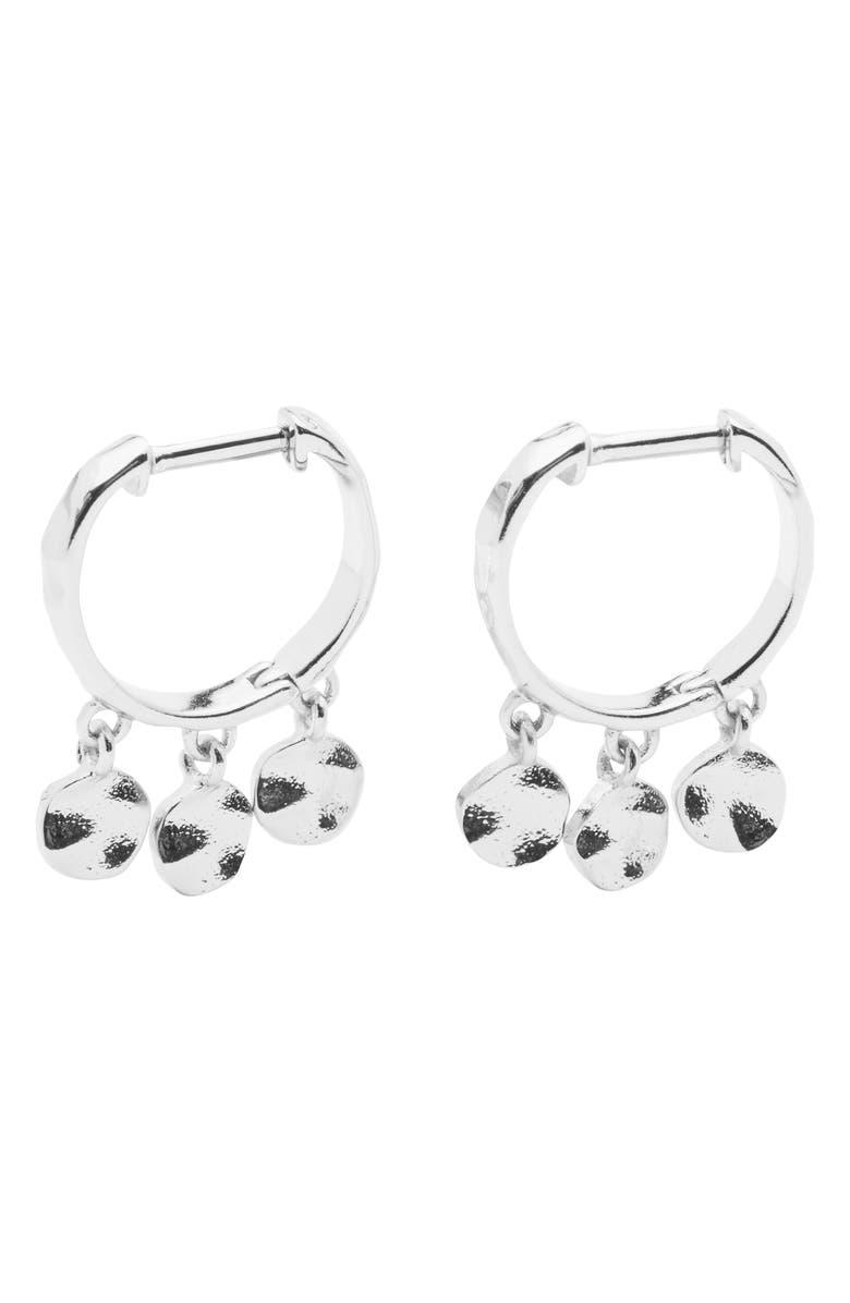 687bb90738e555 Chloe Mini Disc Huggie Hoop Earrings, Main, color, SILVER