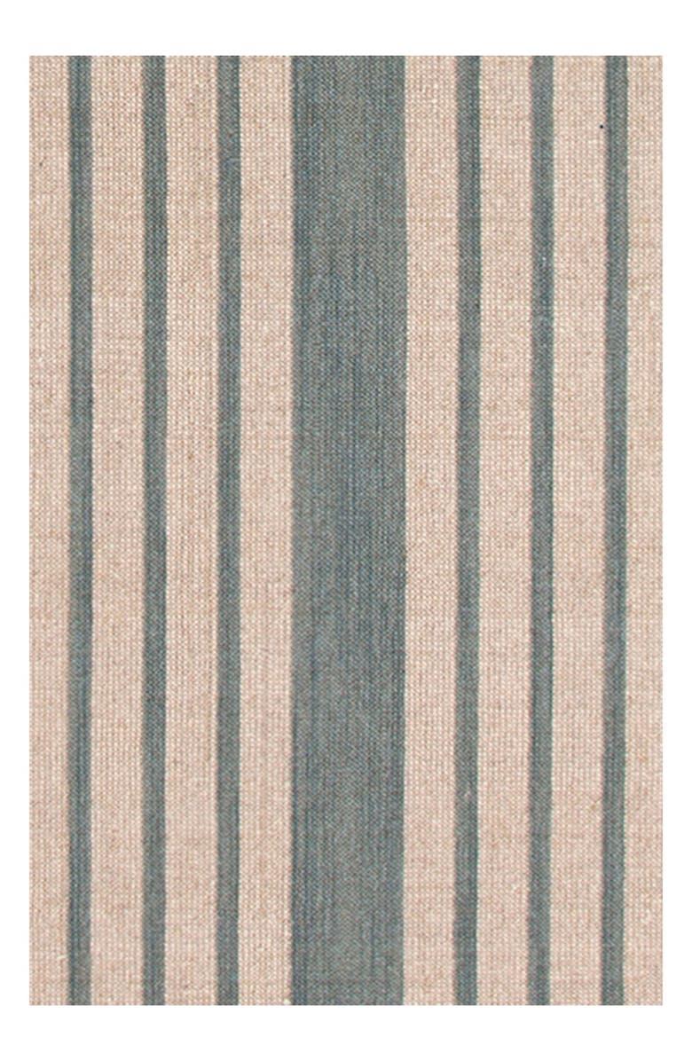 DASH & ALBERT 'Lenox' Stripe Rug, Main, color, SEAGLASS