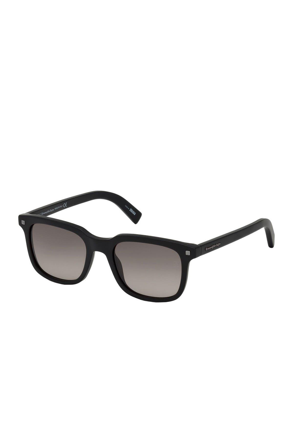 Image of Ermenegildo Zegna Zegna 51mm Square Sunglasses