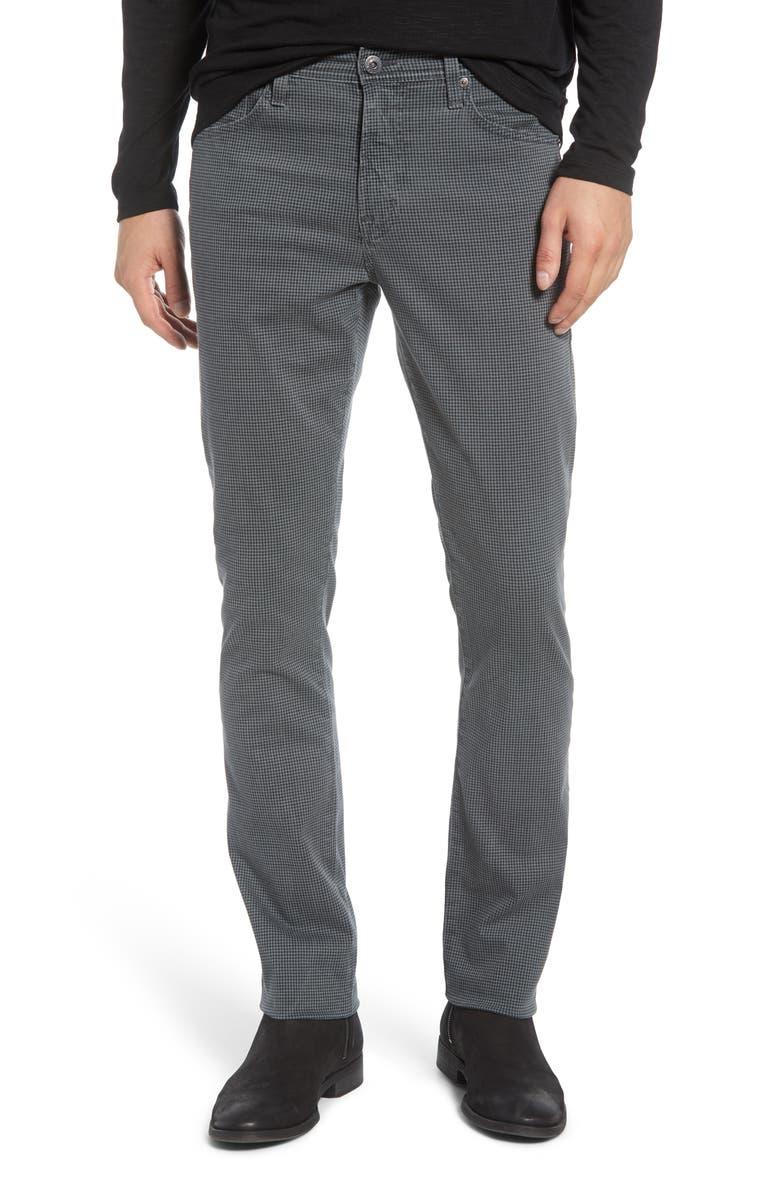 AG Everett Slim Fit Straight Leg Print Pants, Main, color, 437