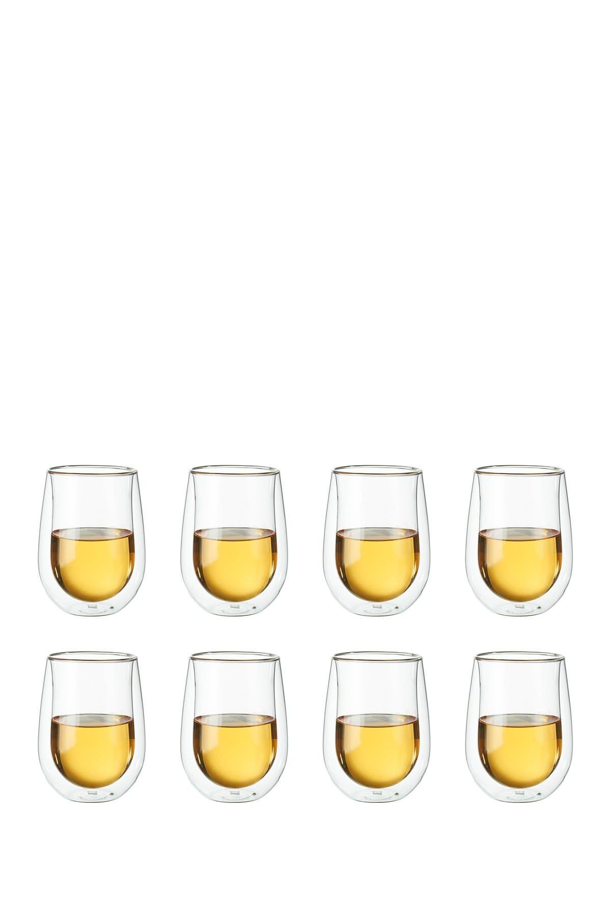 Image of JA Henckels International ZWILLING Sorrento Double-Wall White Wine Stemless Glass 8-Piece Set