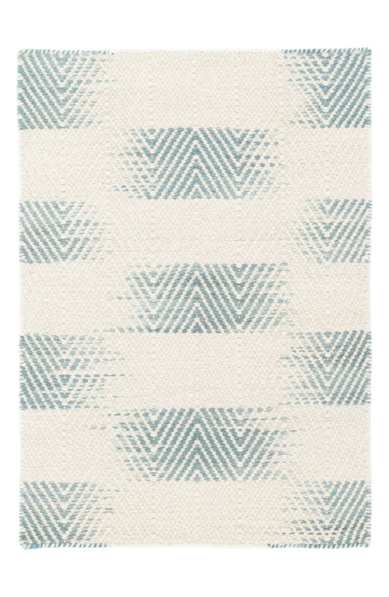 DASH & ALBERT Tansy Woven Rug, Main, color, BLUE