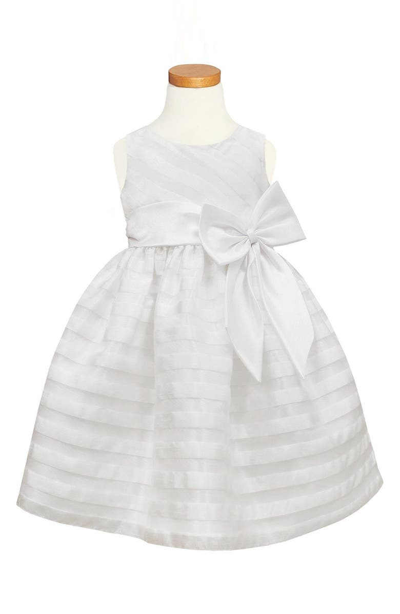 SORBET Stripe Organza Dress, Main, color, 100