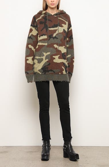Camo Cashmere Hoodie Sweater, video thumbnail