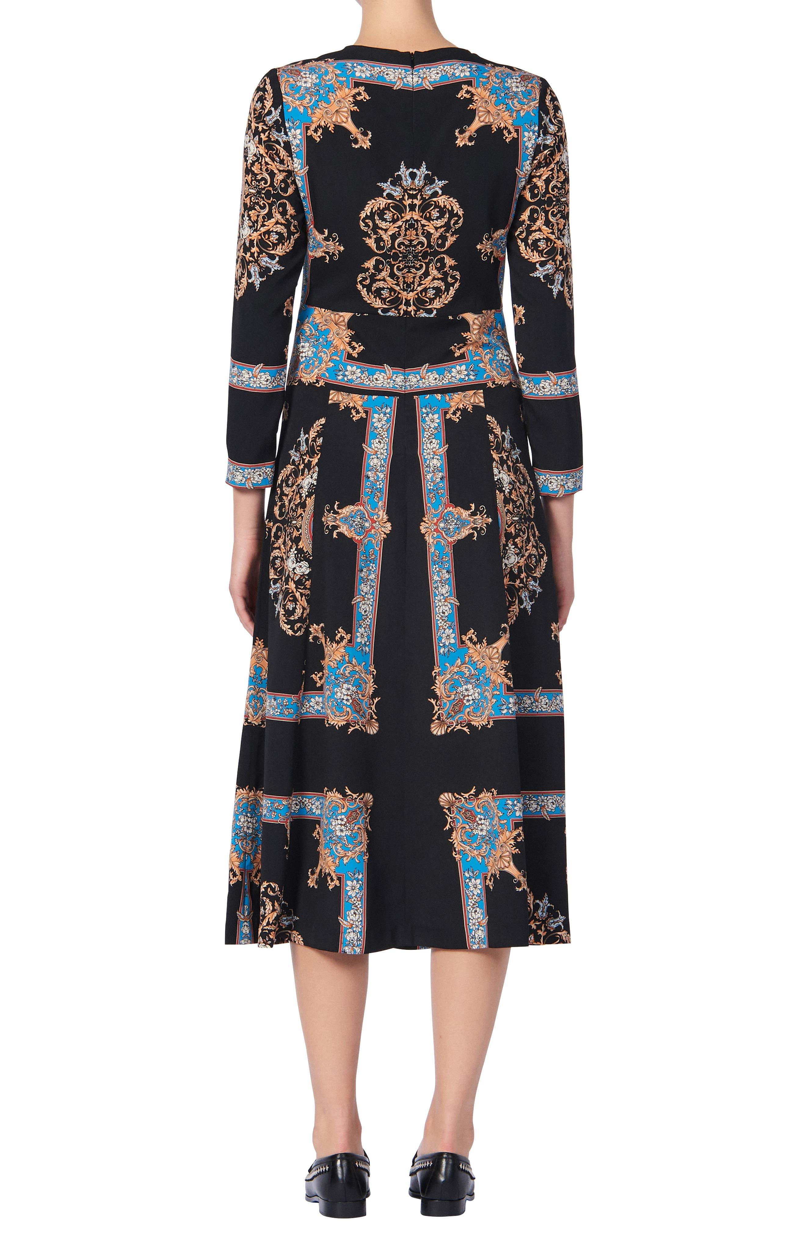 Sandro Dresses Liventa Ornate Print Midi Dress
