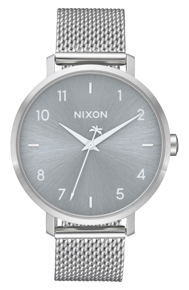 NIXON The Arrow Milanese Mesh Strap Watch, 38mm, Main, color, 040