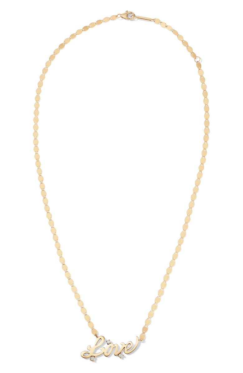 LANA JEWELRY Love Diamond Necklace, Main, color, YELLOW GOLD