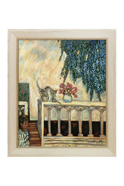 Image of Overstock Art Cats on the Railing - Framed Oil Reproduction of an Original Painting by Pierre Bonnard