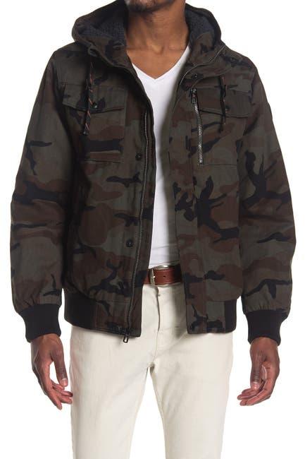 Image of Hawke & Co. Cotton Camo Bomber Jacket