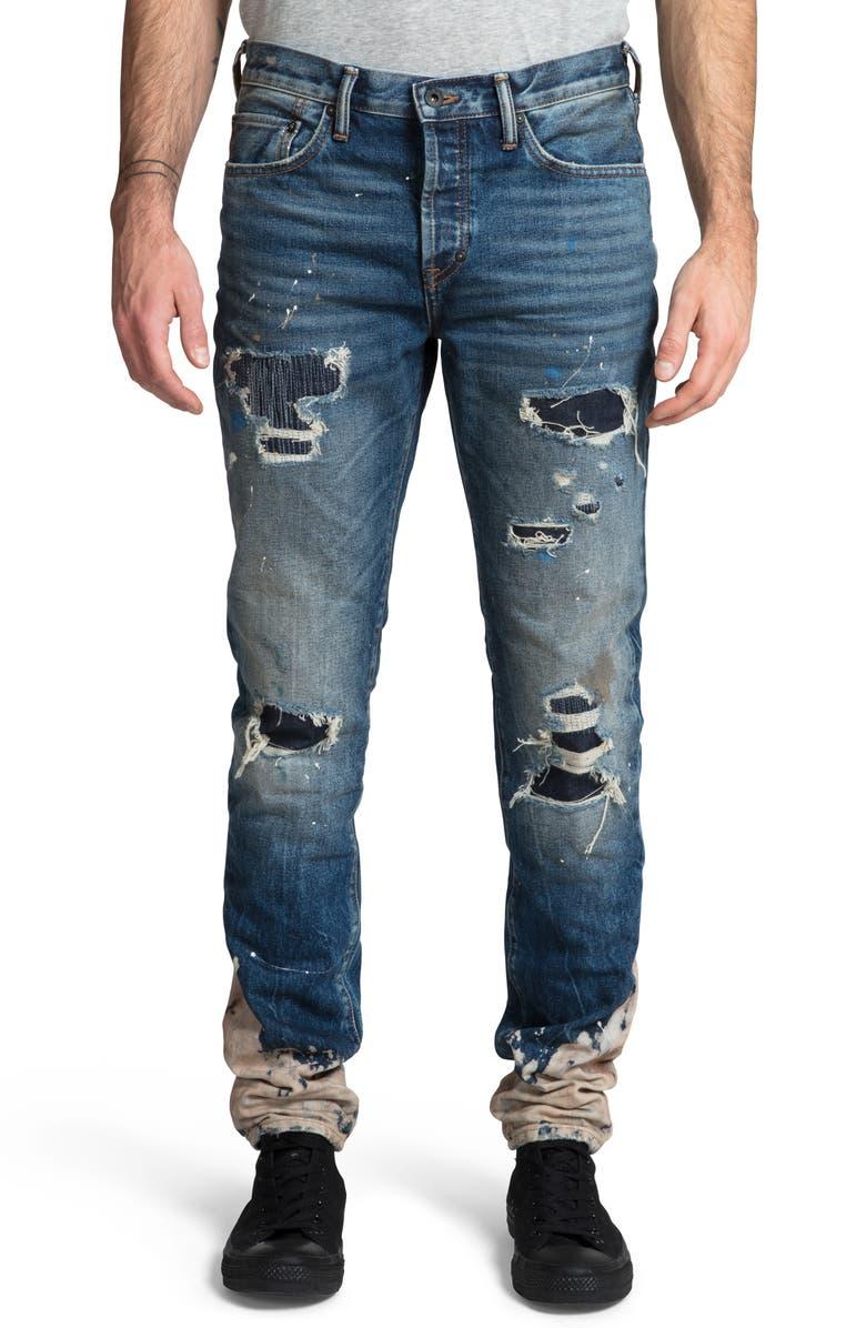 PRPS Le Sabre Slim Fit Jeans, Main, color, 400