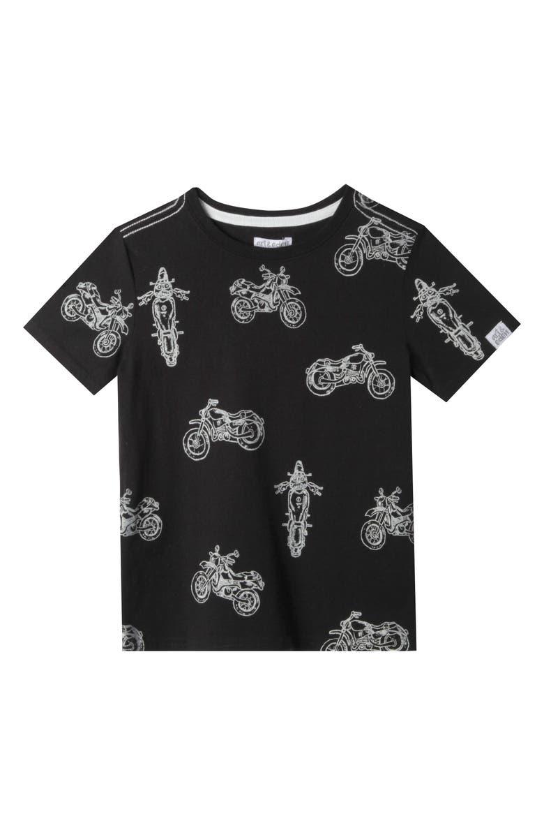Art Eden Sebastian Motorcycle Organic Cotton T Shirt