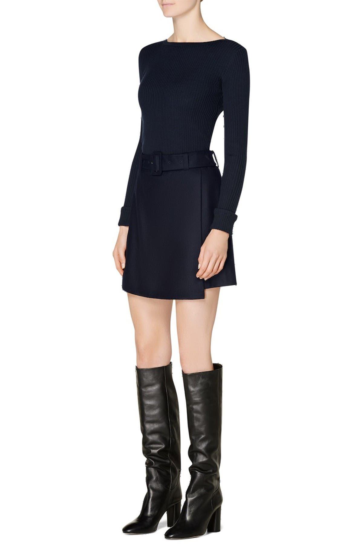 Image of SUISTUDIO Calvin Wool Skirt