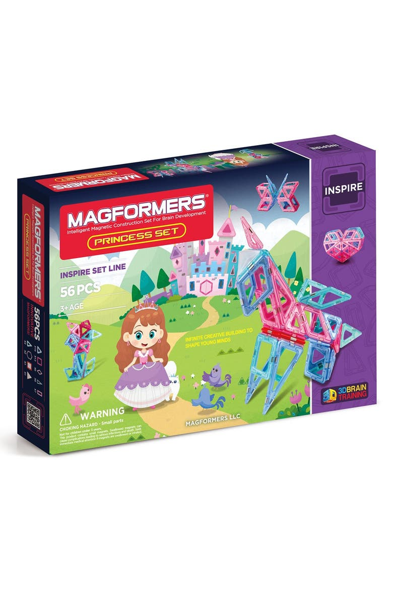 MAGFORMERS 'Princess' Magnetic Construction Set, Main, color, Pink/ Purple/ Teal