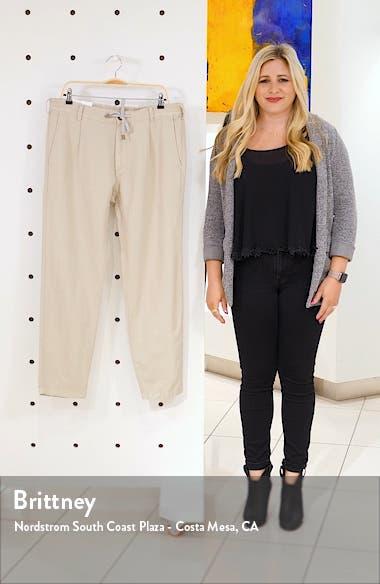 Pleated Cotton & Linen Jogger Pants, sales video thumbnail