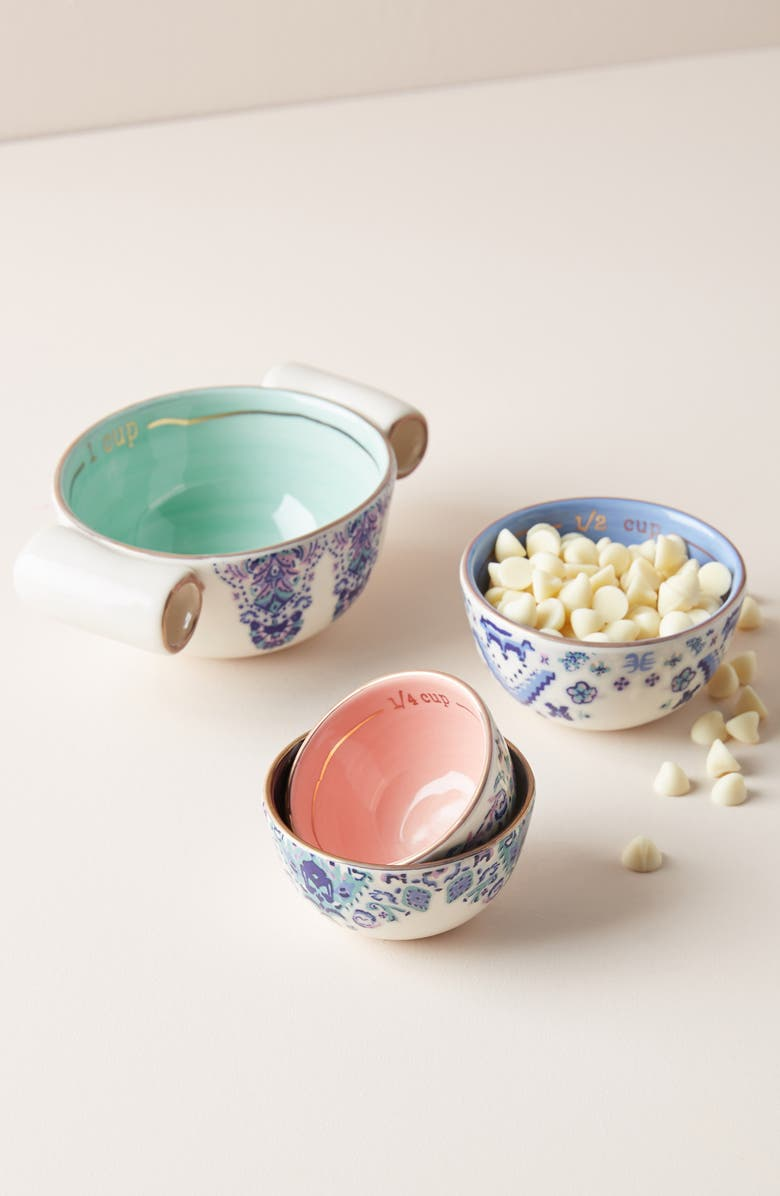 ANTHROPOLOGIE Lilia Measuring Cups, Main, color, BLUE
