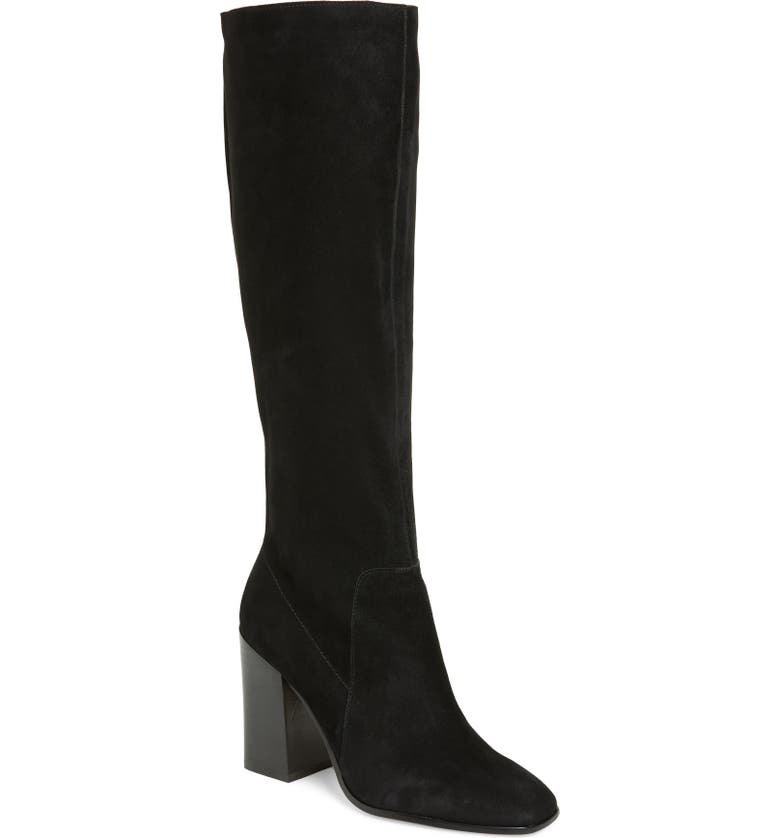 DOLCE VITA Kasidy Knee High Boot, Main, color, BLACK SUEDE