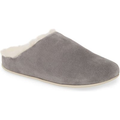 Fitflop Chrissy Genuine Shearling Lined Mule, Grey