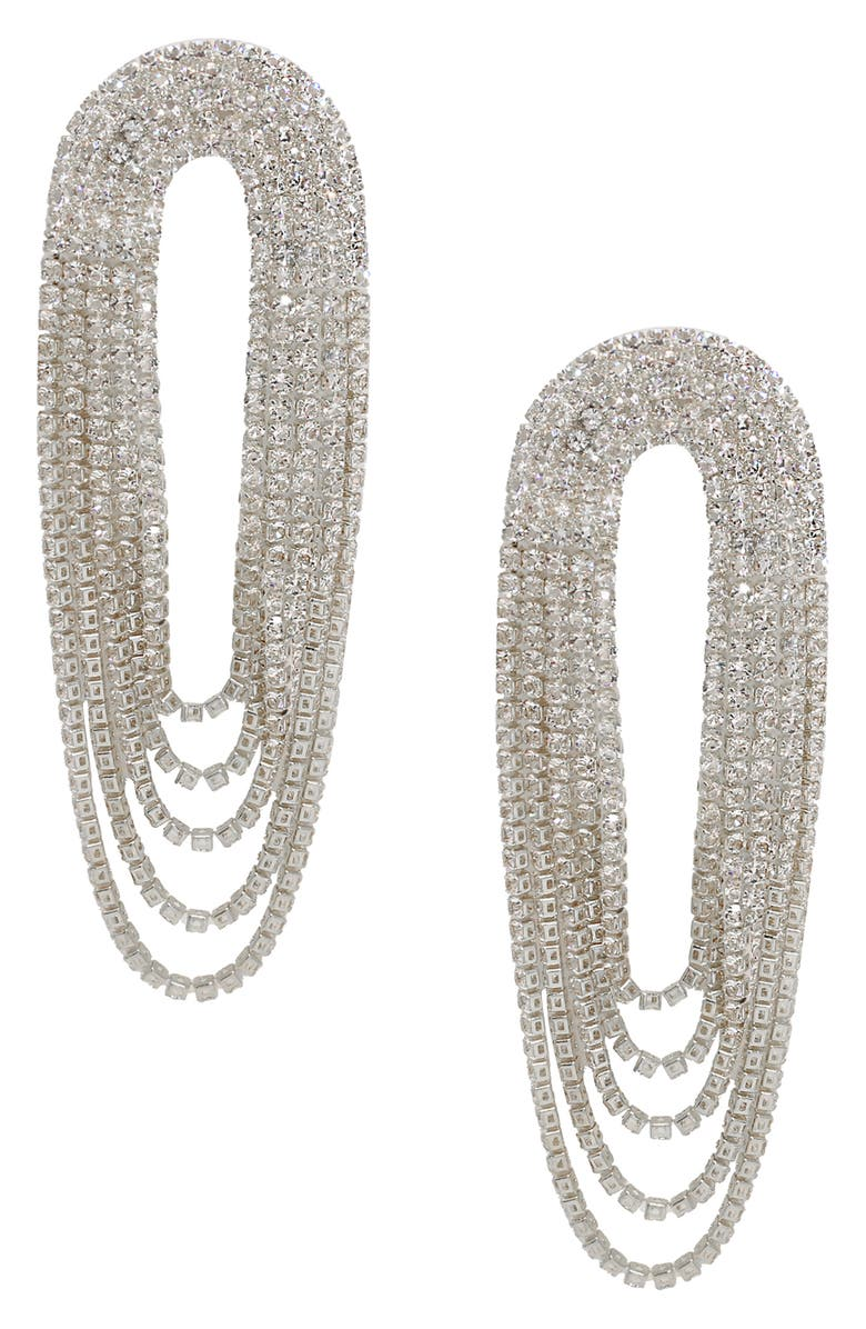 ETTIKA Crystal Chandelier Earrings, Main, color, SILVER