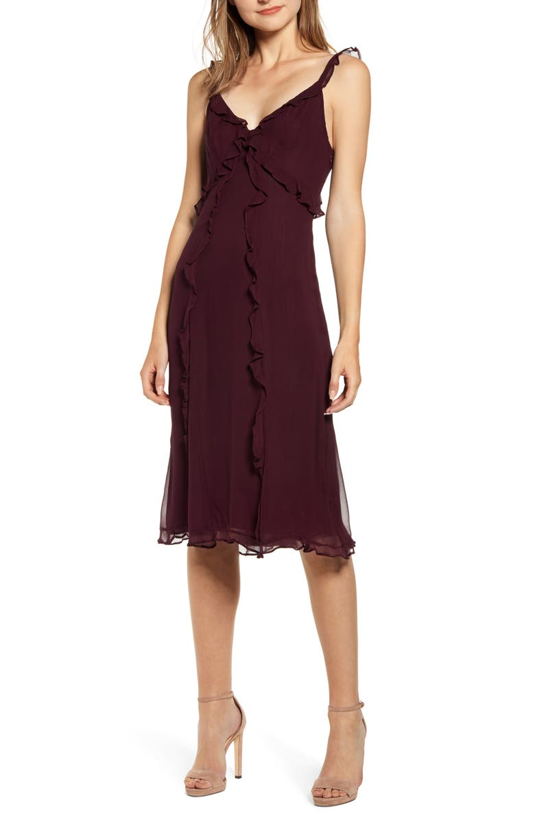 BAILEY 44 Lizette A-Line Dress, Main, color, FIG