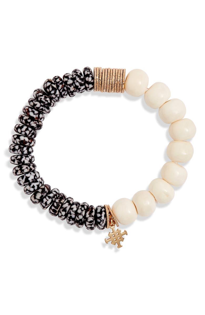 AKOLA West Beaded Bracelet, Main, color, BLONDE