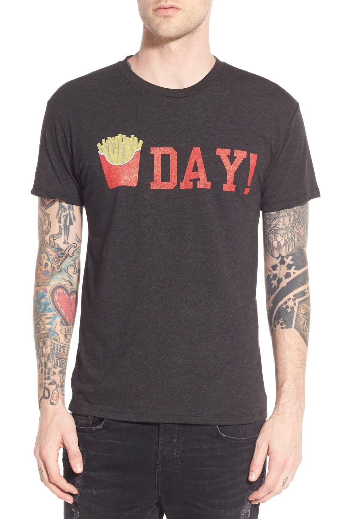 'Fry Day' Crewneck T-Shirt, Main, color, 001