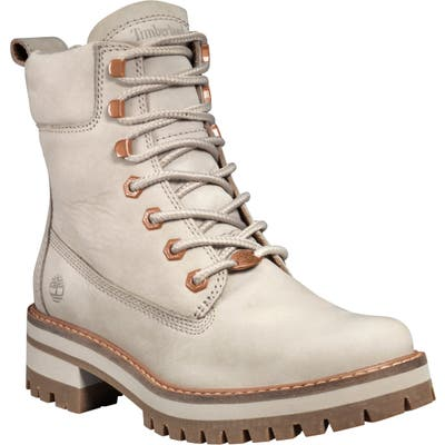 Timberland Courmayeur Valley Water Resistant Hiking Boot, Ivory
