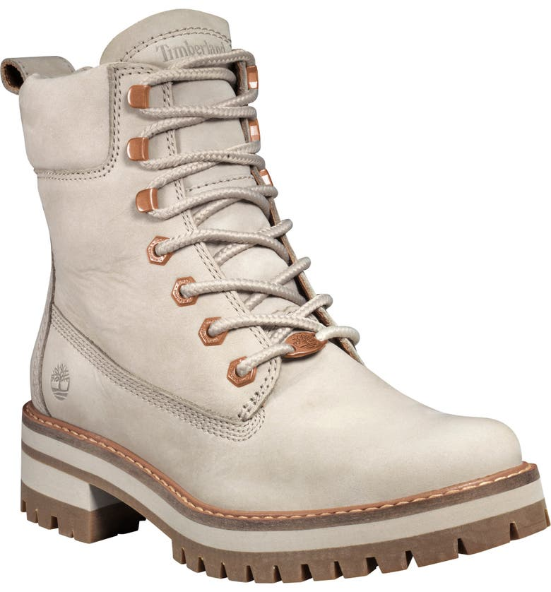 TIMBERLAND Courmayeur Valley Water Resistant Hiking Boot, Main, color, LIGHT TAUPE NUBUCK LEATHER