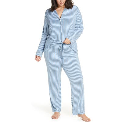 Plus Size Nordstrom Lingerie Moonlight Pajamas, Blue