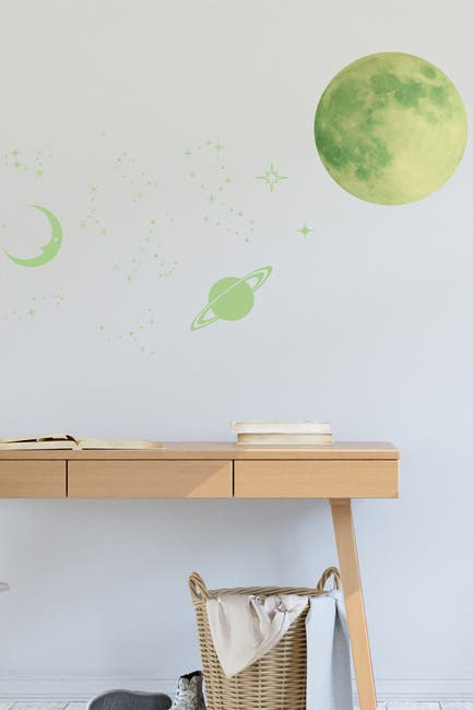 Image of WalPlus Glow In The Dark Stars and Moons Wall Stickers
