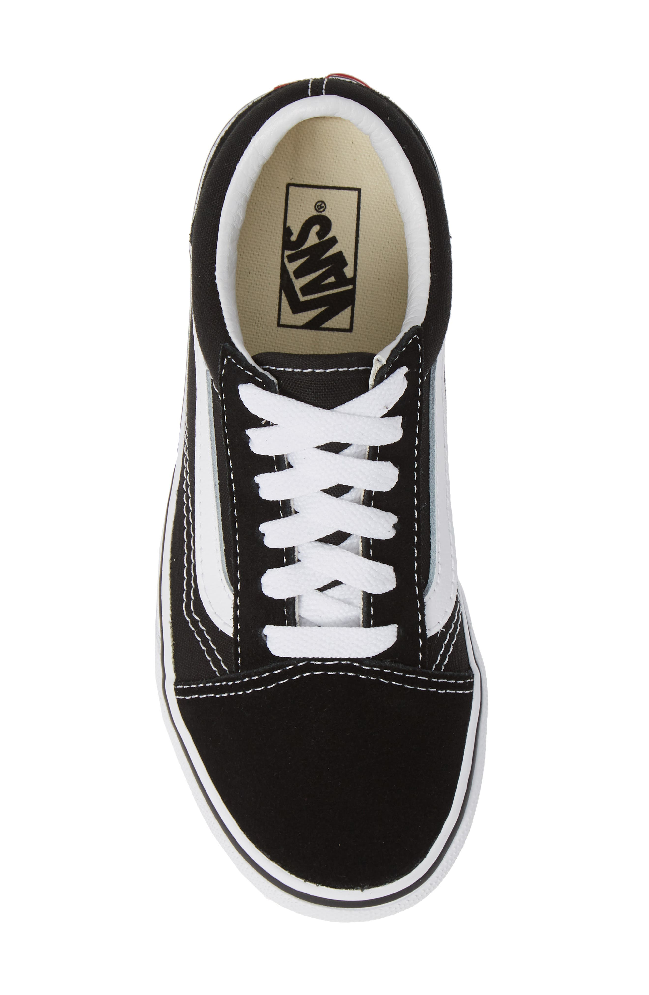 ,                             Old Skool Platform Sneaker,                             Alternate thumbnail 5, color,                             BLACK/ TRUE WHITE