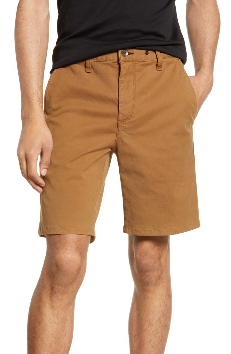 RAG & BONE Classic Chino Shorts, Main, color, DARKKHAKI