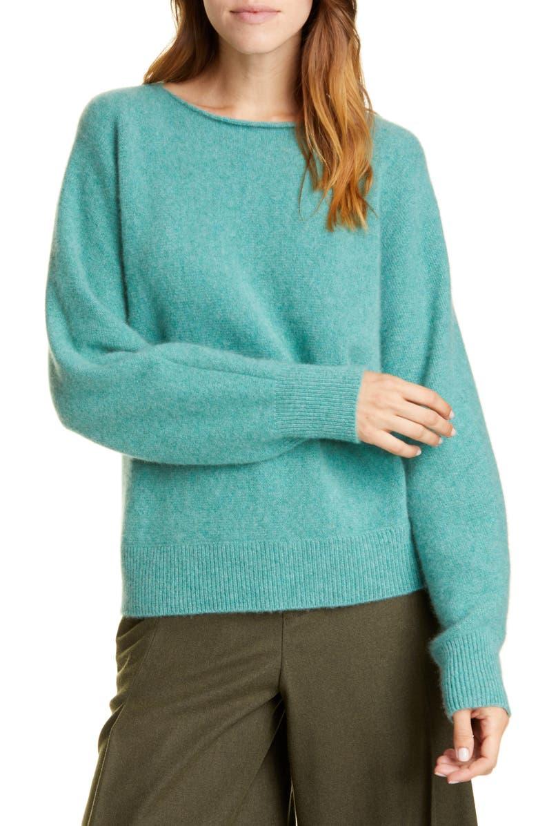 VINCE Boat Neck Dolman Sleeve Cashmere Sweater, Main, color, 440