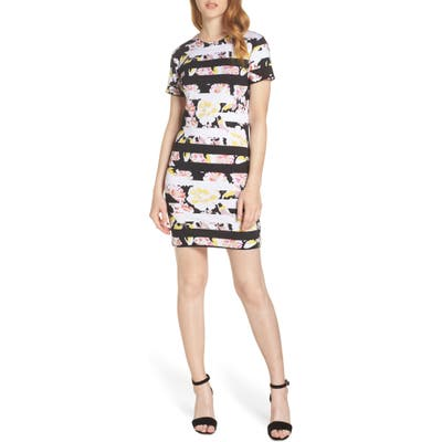 French Connection Enoshima Print Jersey Dress, Black