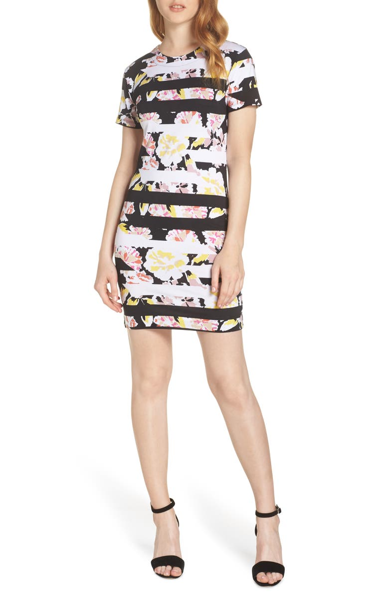 FRENCH CONNECTION Enoshima Print Jersey Dress, Main, color, 008