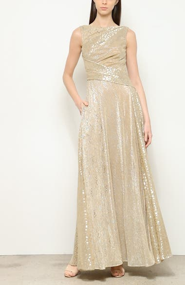 Sequin Metallic Voile Gown, video thumbnail