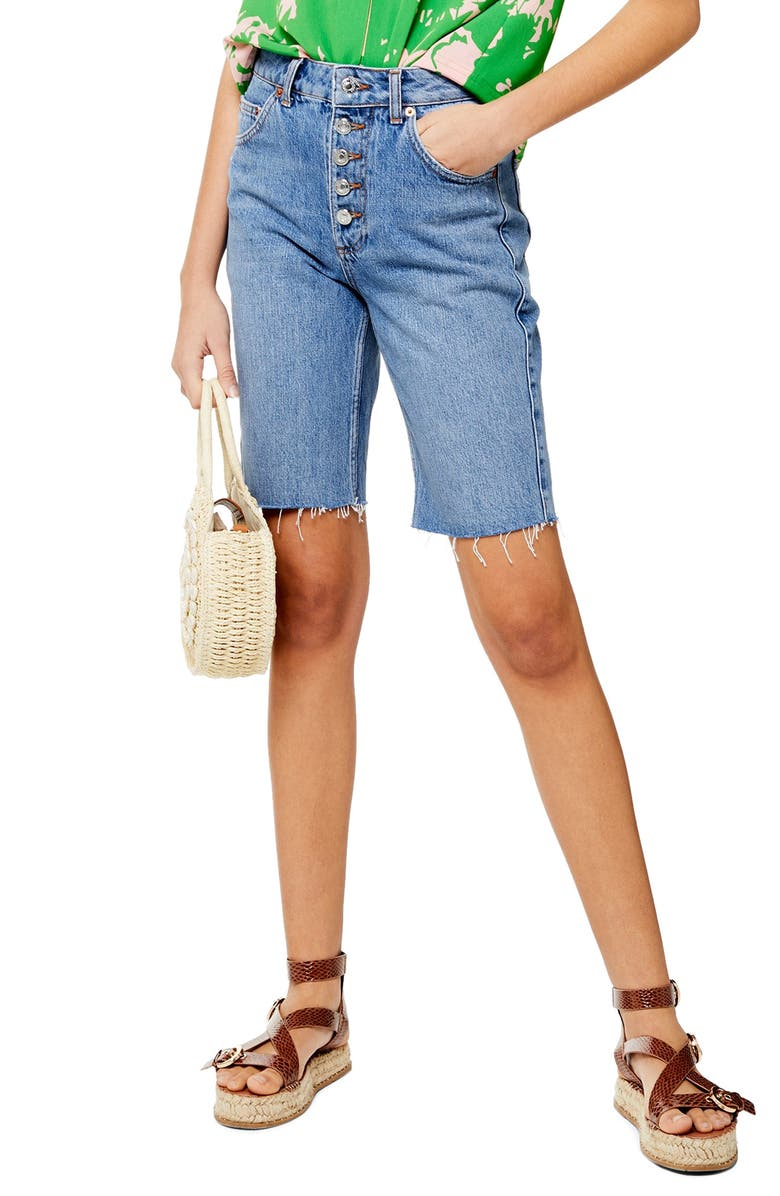 Button Cycle Denim Shorts by Topshop