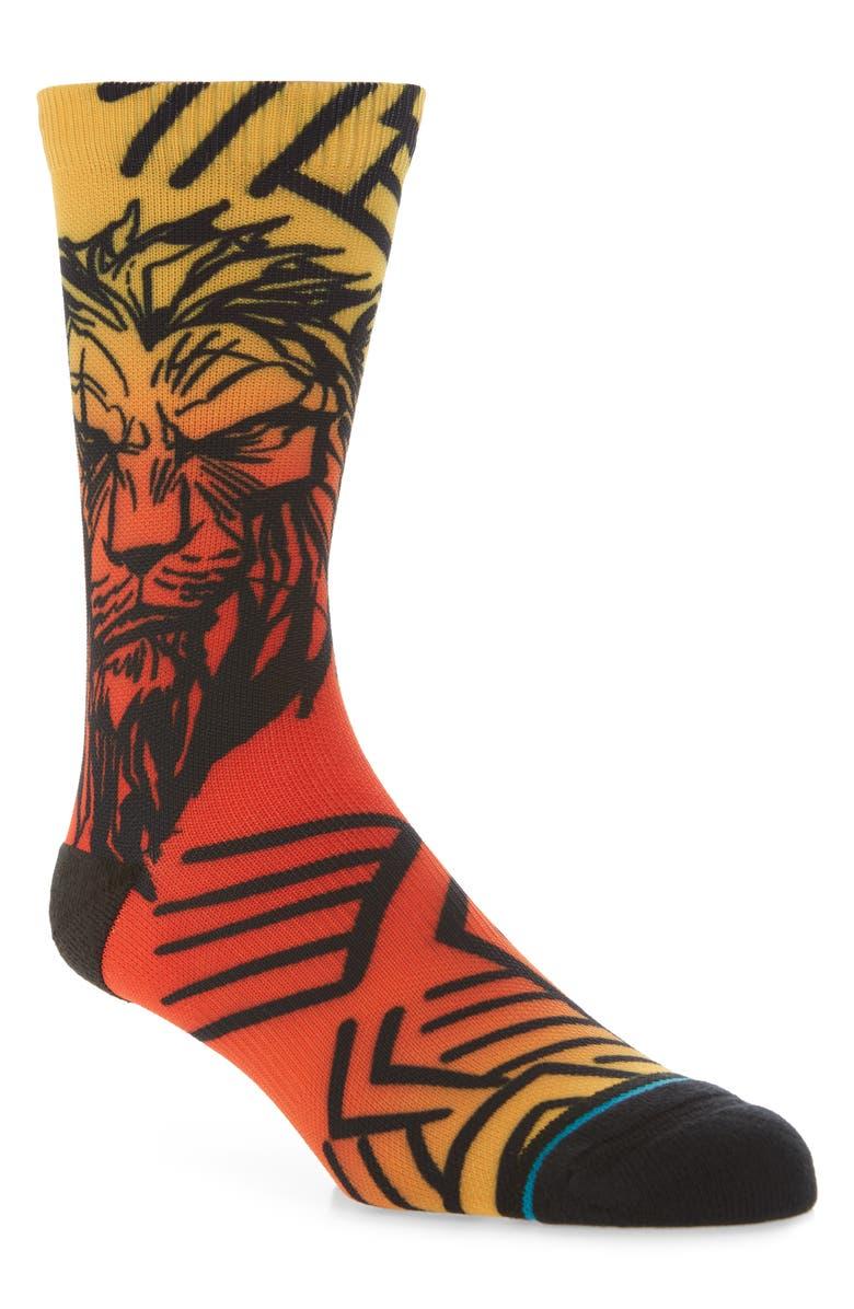 STANCE Disney Scar Socks, Main, color, BLACK