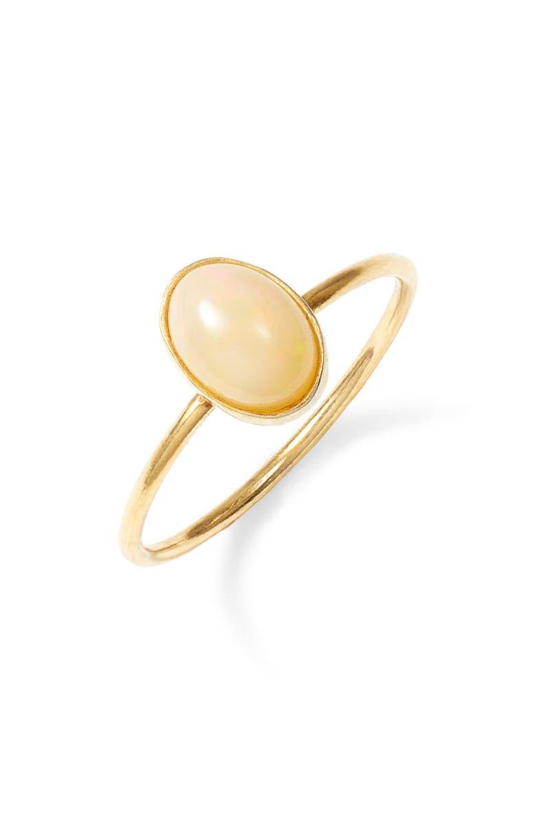 MARIDA Cabochon Ring, Main, color, OPAL/ GOLD
