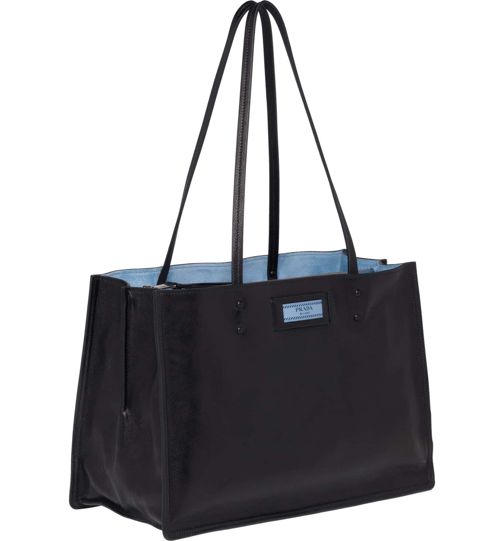 11c14d081774 Prada Small Etiquette Glace Calfskin Shopper | Nordstrom