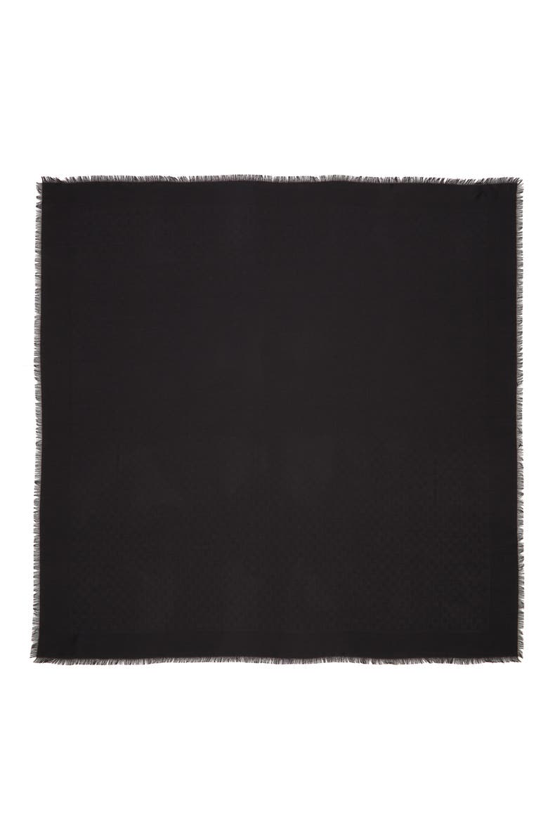 GUCCI Ataria Jacquard Shawl, Main, color, BLACK